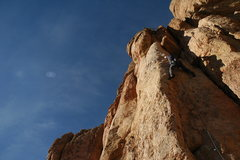 Rock Climbing Photo: Traversing to the arete.