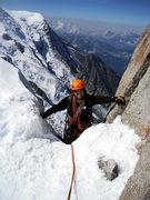 Rock Climbing Photo: Cosmique Arete, Aiguille du Midi  Sept. 2012