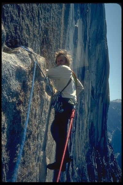 Rock Climbing Photo: Steve Eddy, hippy, 3rd ascent of Tangarine Trip.