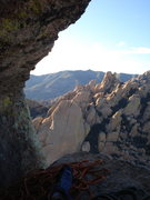 Rock Climbing Photo: Awesome belay atop the friendly flake