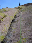 Rock Climbing Photo: From 1/4 way up first pitch