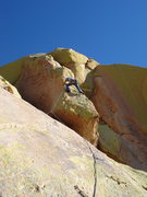 Rock Climbing Photo: Finishing on a final pitch variation of Warpaint