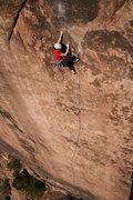 Rock Climbing Photo: Megan Arzt battling the bulge