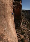 Rock Climbing Photo: Gaar onsighting the FA