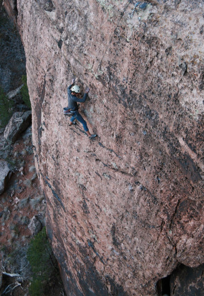 Rock Climbing Photo: Salina finishing up a day of job searching.  Rock ...