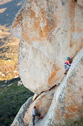 Rock Climbing Photo: Climbers on P2 of Roshambo