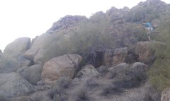 Rock Climbing Photo: The Den Boulder is to the left of the guy and behi...