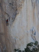 Rock Climbing Photo: Mike HOlley on a Landscape
