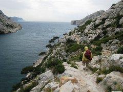 Rock Climbing Photo: Trail to Falaise du Renard