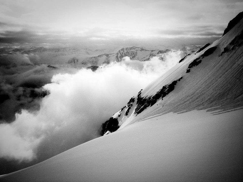 Alpine start on Anniversary Glacier
