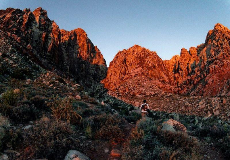 Rock Climbing Photo: Early start for Epinephrine