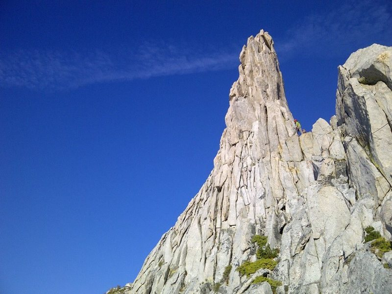 You pull over the boulder and the incredible view of the pinnacle is right ahead of you