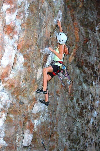 Rock Climbing Photo: Lead Climb Redpoint Age 10