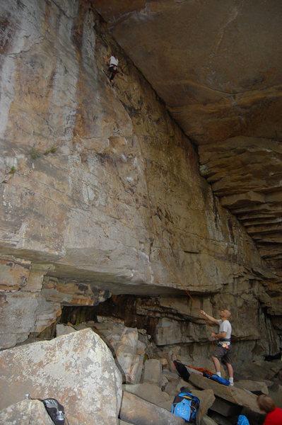 Rock Climbing Photo: Lead Climb Flash