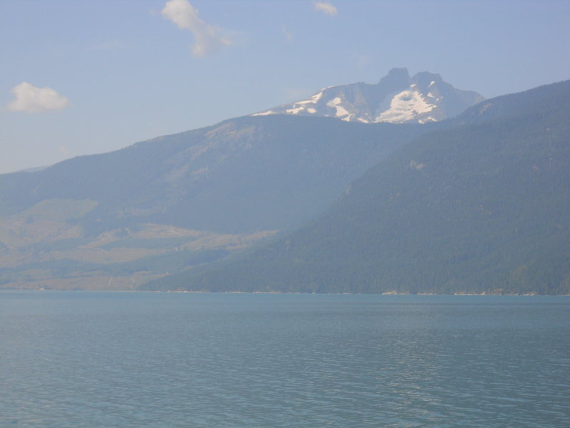 Rock Climbing Photo: MT THOR (2948m) Taken from the Galena Bay ferry on...