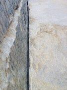Rock Climbing Photo: Leading Pratt's Crack. Photo by R. Shore.