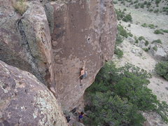 Rock Climbing Photo: Andrew McClure onsighting Trigger Happy.
