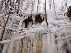 Rock Climbing Photo: Ice conditions as of 12/12/12. This is the new are...