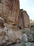 Rock Climbing Photo: Bob D. trying Mr. Nobody.