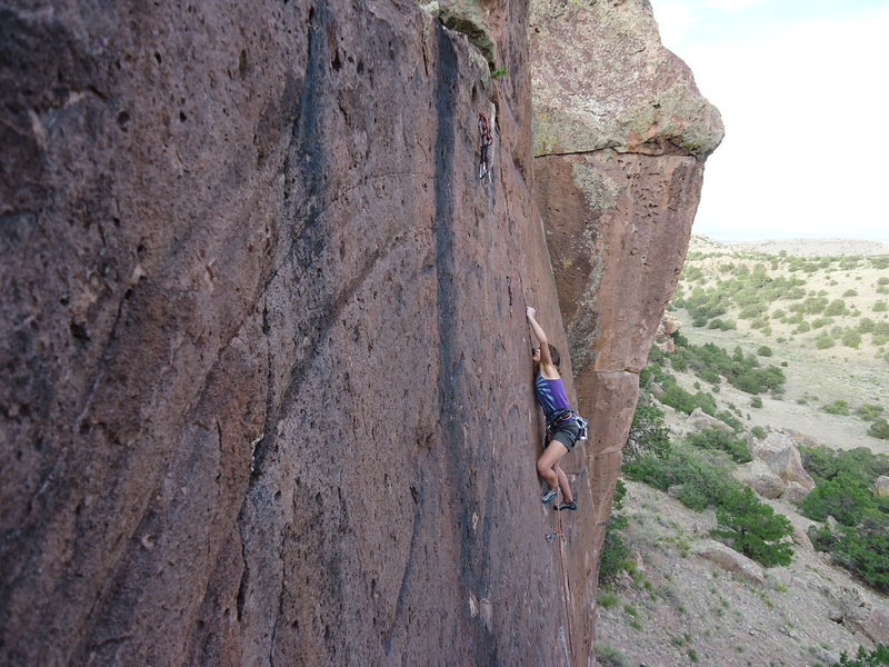 Rock Climbing Photo: Lydia Gillespie sending Mr. D'Antonio, 5.12a.
