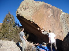 Rock Climbing Photo: William Mondragon on a project.
