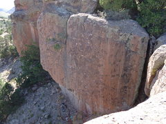 Rock Climbing Photo: The Jewpacabra climbs the SWEET pockets right of t...