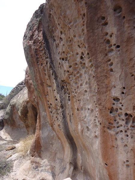 Rock Climbing Photo: Huecos.