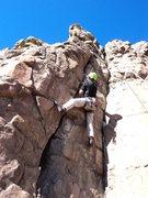 Rock Climbing Photo: Daddy Jon tries the line.