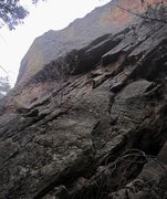 Rock Climbing Photo: The North Buttress (5.10+, PG13) ascends the two s...