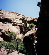 Rock Climbing Photo: Jason Haas approaches the summit of the South Aret...