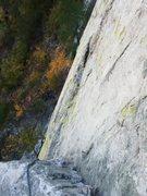 Rock Climbing Photo: Greenwall 5.7 Pitch 2