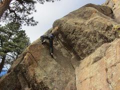 Rock Climbing Photo: Dana, on Mnemonic Plague.  Fun route.