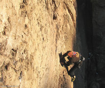 Rock Climbing Photo: Emma redpoints Love Pump, 5.10b/c, The Gallery.