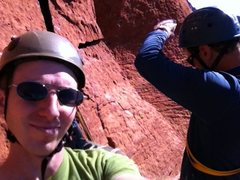Rock Climbing Photo: Belay station after 3rd pitch of Mars Attacks