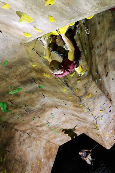 Rock Climbing Photo: Our 40 foot walls present a great challenge!