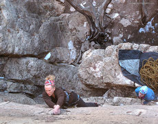 Rock Climbing Photo: Emma and Emily.