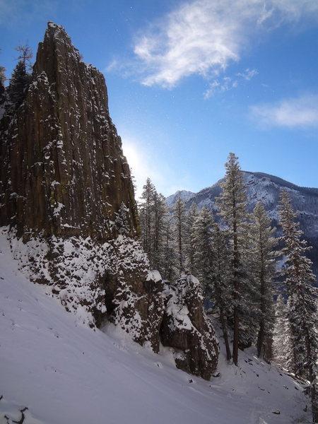 Palisade Falls Hyalite Canyon - Bozeman Ice Fest -Montana - Dec 2012.