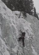 Rock Climbing Photo: Climbing at GENESIS I Area -  Hyalite Canyon - Boz...