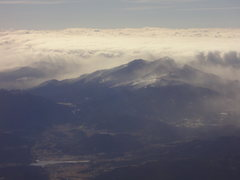 Rock Climbing Photo: Longs Peak and Estes Park from the plane home. Boz...