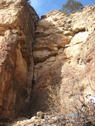 Rock Climbing Photo: The route generally follows the shade line to the ...