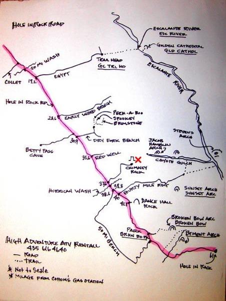Rock Climbing Photo: On line GSENM map
