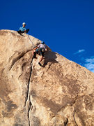 Rock Climbing Photo: Rob Donnely belaying me up Palm Reader. Photo cred...