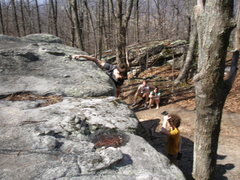 Rock Climbing Photo: Topping out Rock'n Roll