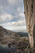 Rock Climbing Photo: Nick Duttle sending this brilliant alpine route.  ...