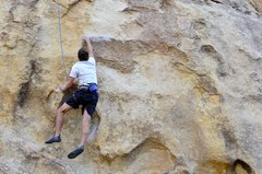 Rock Climbing Photo: Feet off the rock Dynamo.
