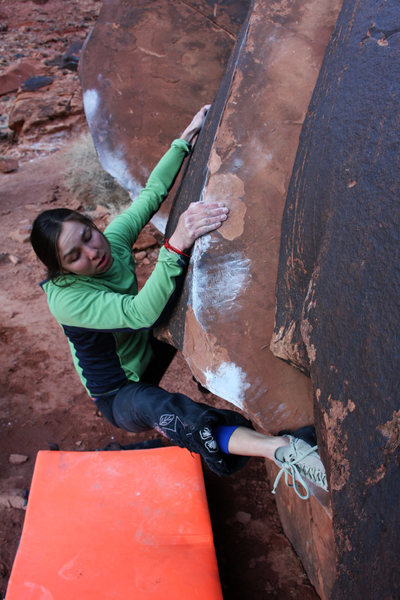 Rock Climbing Photo: Lexi Tuddenham tackling 'Short Stuff' (v1)at Big B...