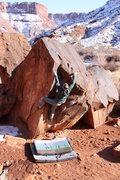 Rock Climbing Photo: Christian Prellwitz climbing 'La Derecha Sit Start...