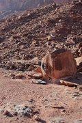 Rock Climbing Photo: Christian Prellwitz climbing 'Split Decision' (v1+...