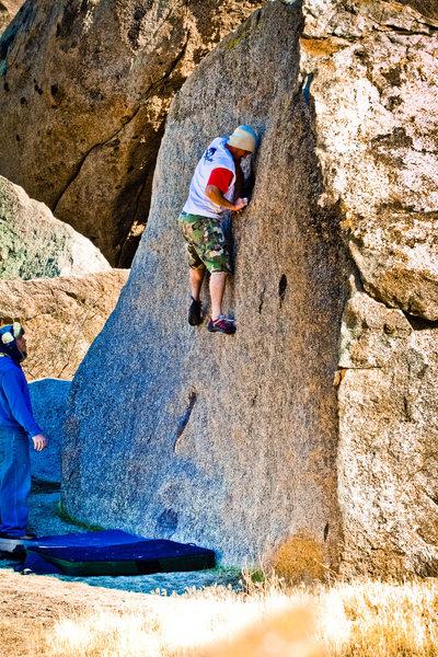 Rock Climbing Photo: Nick Ciotti mantels the Black Dot