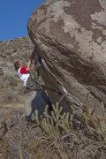 Rock Climbing Photo: Ciotti on V5 (var) Throw Up